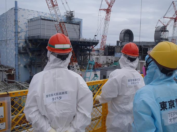 福島第一原発の労働者安全衛生環境を視察