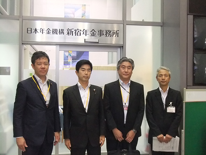 牧原厚生労働副大臣とともに日本年金機構 新宿年金事務所を視察